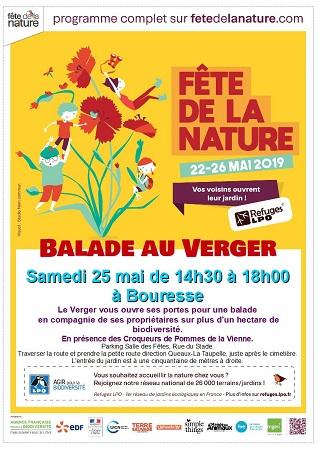 Affiche Fête de la Nature 2019 à Bouresse 86, Refuge LPO Le Verger