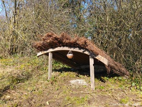 Agrainoir à faisans et perdreaux, Aménagement du jardin, Le Verger, Refuge LPO, Bouresse, Sud-Vienne, Poitou