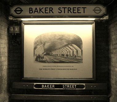 Baker street la toute première station de métro au monde Londres mars 2012 (31)