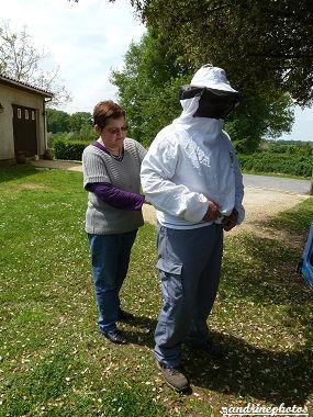 Essaimage du vendredi 11 mai 2012 avec M.Philippe Giraud apiculteur à Bouresse-Poitou-Charentes (13)