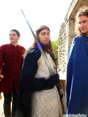 Fête médiévale au château de Gençay chevaliers de l`association Nouaillé 1356 - 29 avril 2012