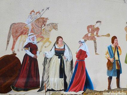 Fête médiévale au château de Gençay avec l`association Nouaillé 1356 fresques 29 avril 2012 (1)