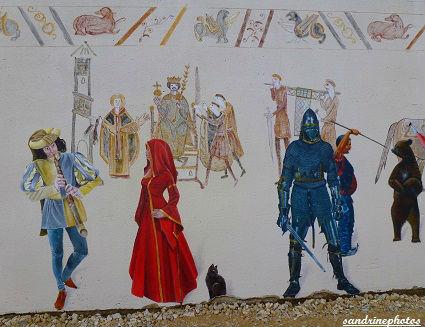 Fête médiévale au château de Gençay avec l`association Nouaillé 1356 fresques 29 avril 2012