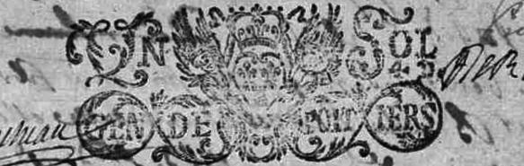 Tampon des registres paroissiaux du diocèse de Poitiers 1694, Bouresse, Poitou-Charentes 86, SandrinePhotos