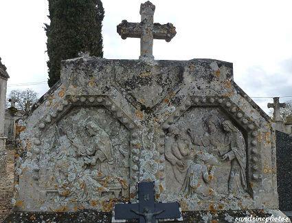 tomble double cimetière de Bouresse
