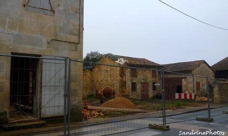 Travaux de la Grand rue, bâtiments anciens, maison et granges, 2012-2013, Bouresse, Poitou-Charentes